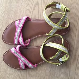 Lucky Brand Colorful Faux Snakeskin strappy sandal